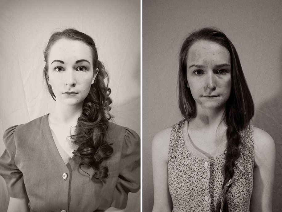 16 Year Old Shows How She Would Have Looked From The 1920s
