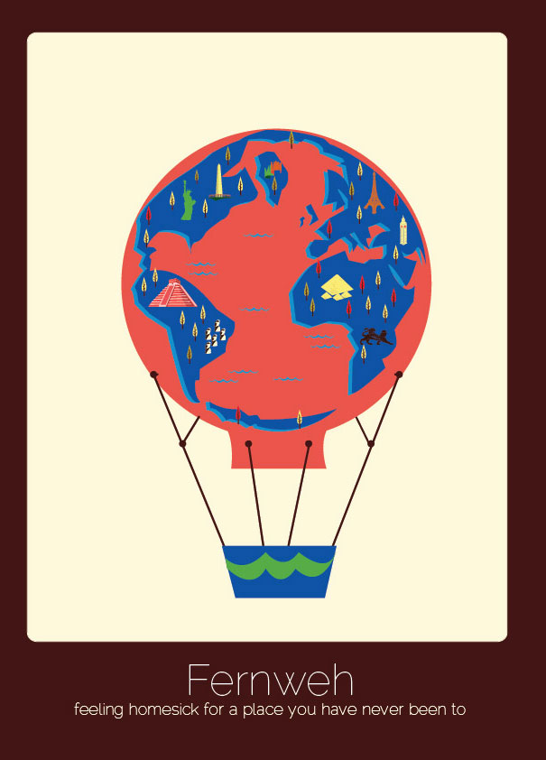 30 untranslatable words from different languages illustrated by 1 fernweh german stopboris Choice Image