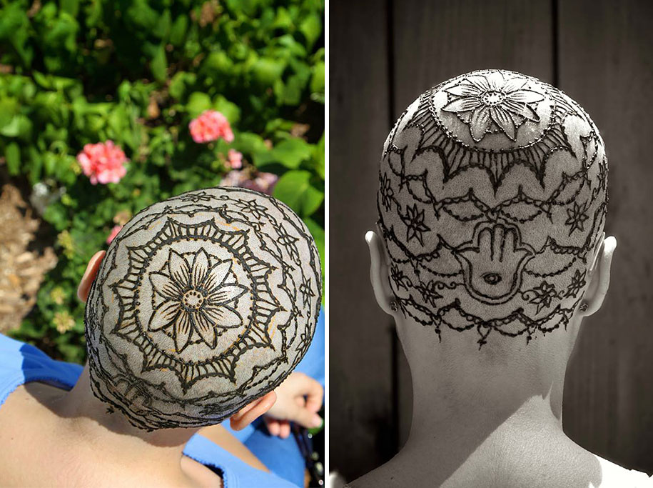 Henna Crowns Help Cancer Patients Overcome Their Hair Loss