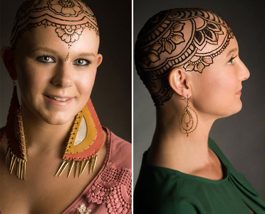 beautiful henna crowns help cancer patients over e their hair loss
