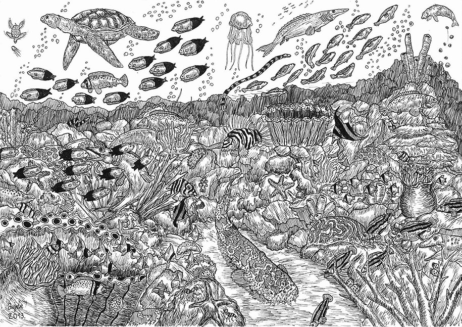 11-Year-Old Prodigy Creates Fantastic And Highly Detailed Drawings