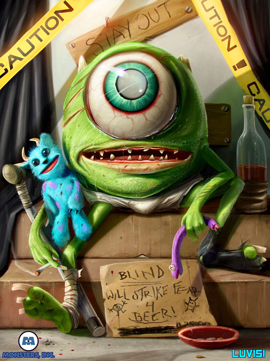 Your Favorite Childhood Cartoon Characters Turned Into Psycho Killers