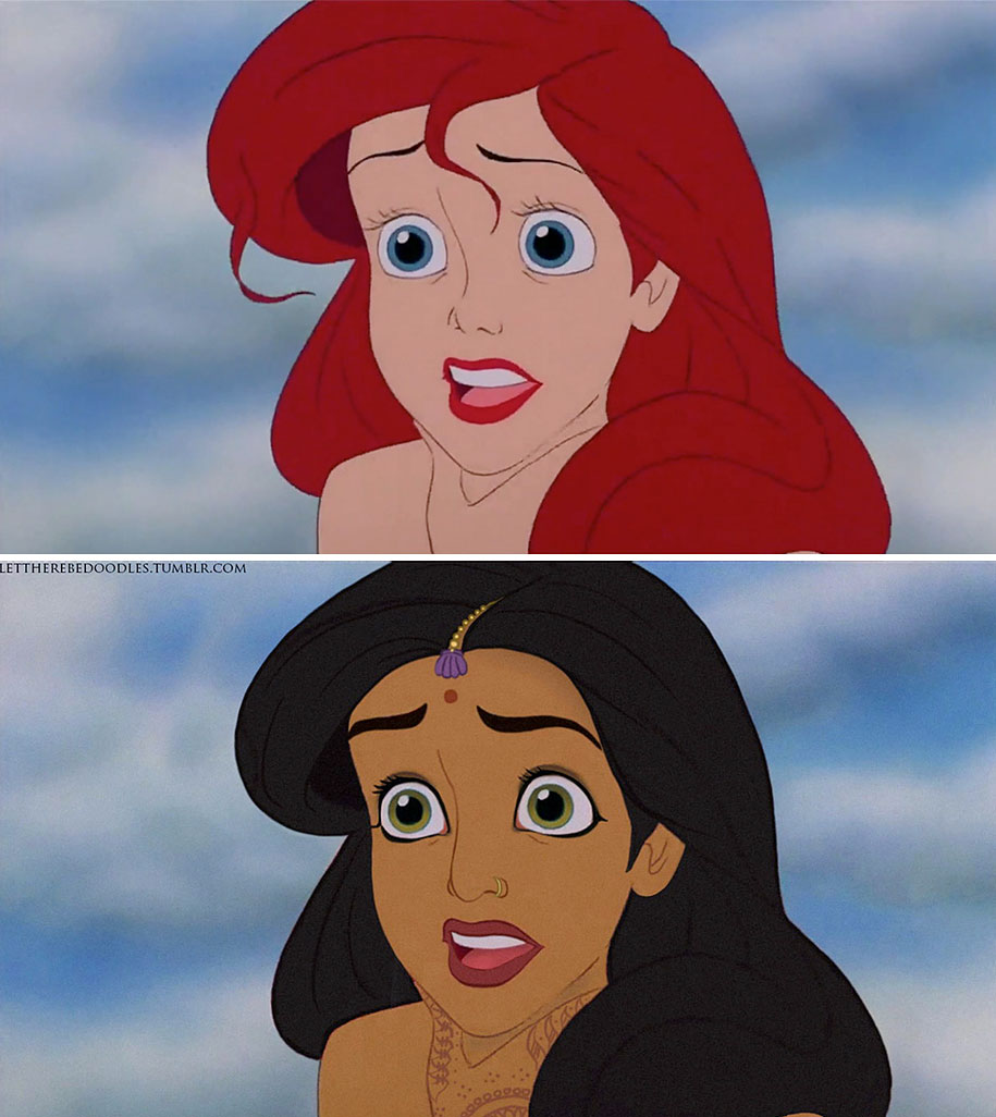 Artist Shows How Disney Princesses Would Look As Different