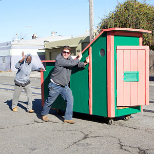 Artist Transforms Trash Into Mobile Homes For Homeless