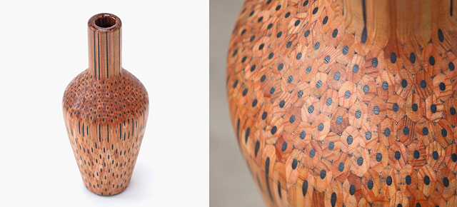 Hundreds Of Pencils Turned Into Gorgeous Vases By Finnish Artist