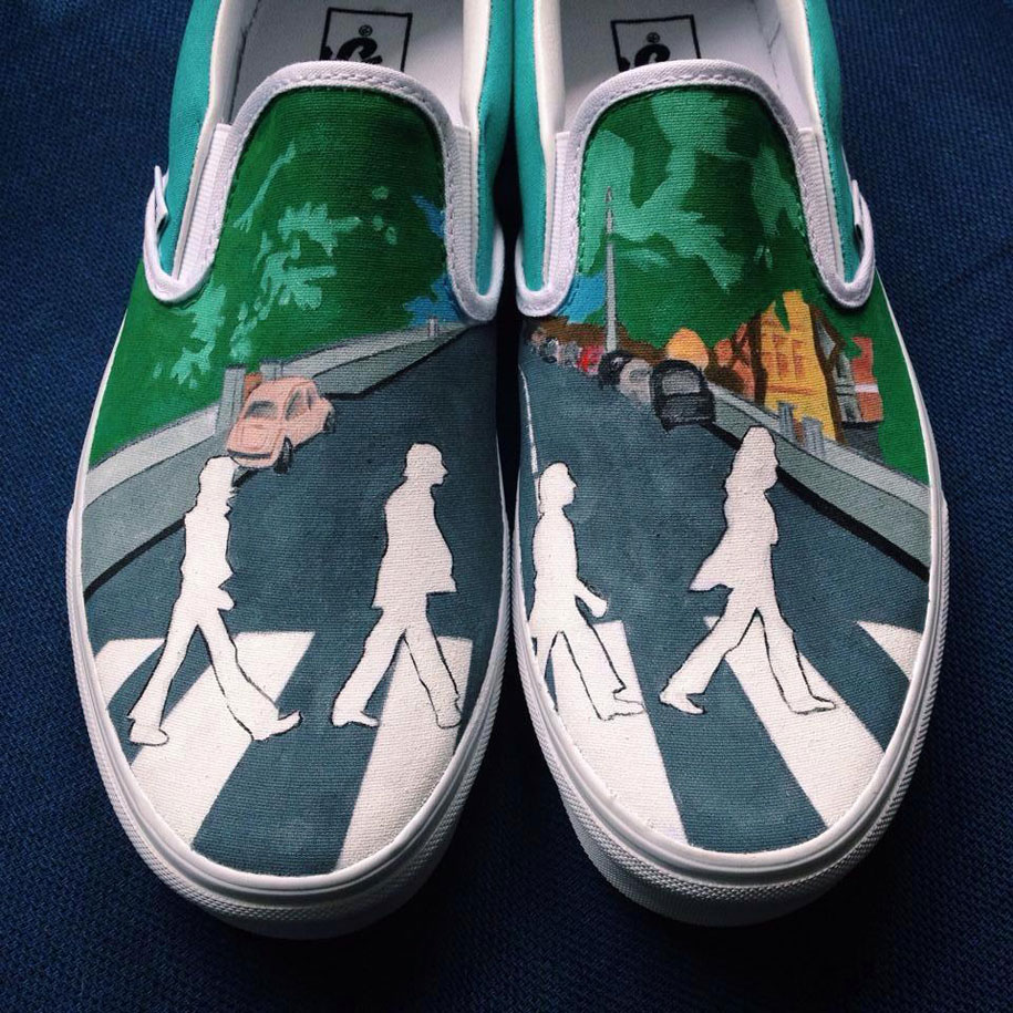 Disney Painted Shoes For Sale