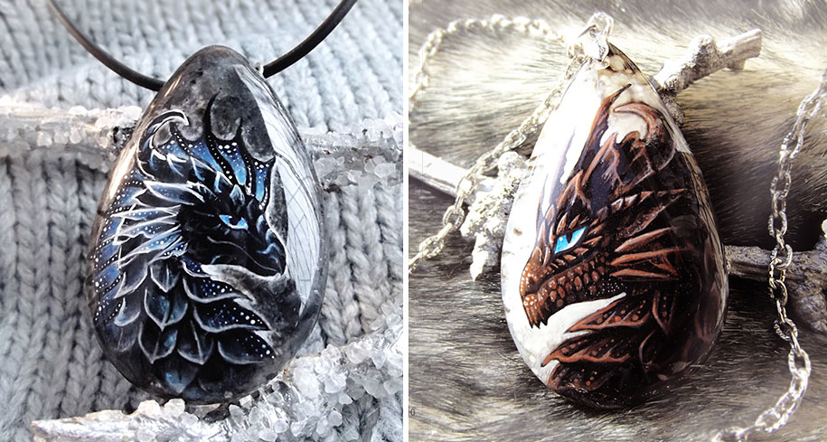 fantasy-creatures-stone-painting-necklaces-alvia-alcedo-15