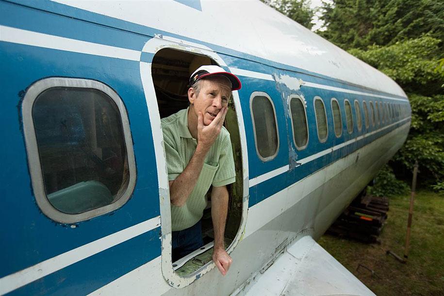 eski boeing-727-geri dönüşümlü-düzlem-ev-bruce-Campbell-11