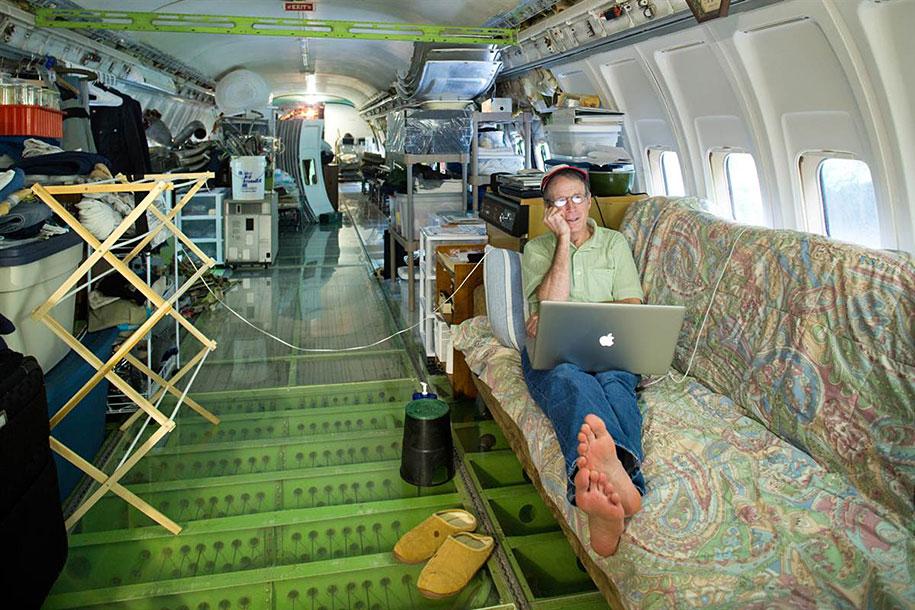eski boeing-727-geri dönüşümlü-düzlem-ev-bruce-Campbell-12