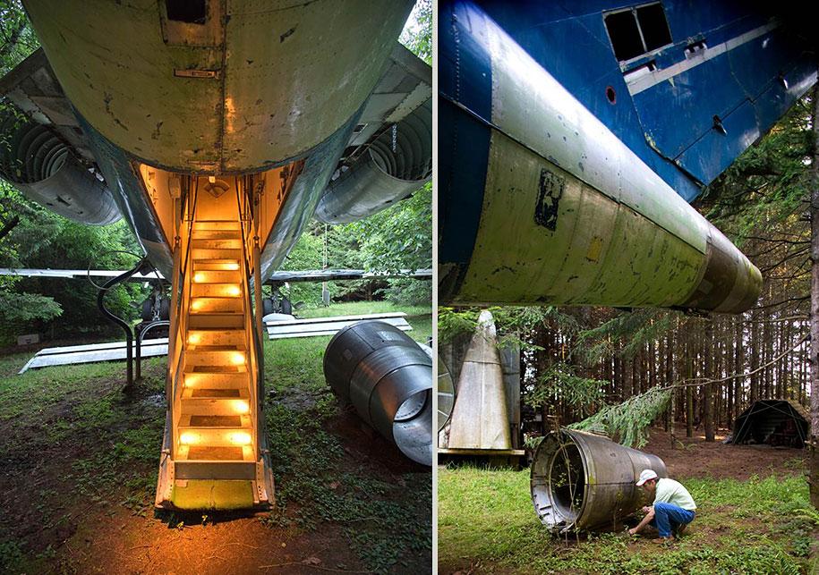 eski boeing-727-geri dönüşümlü-düzlem-ev-bruce-Campbell-16