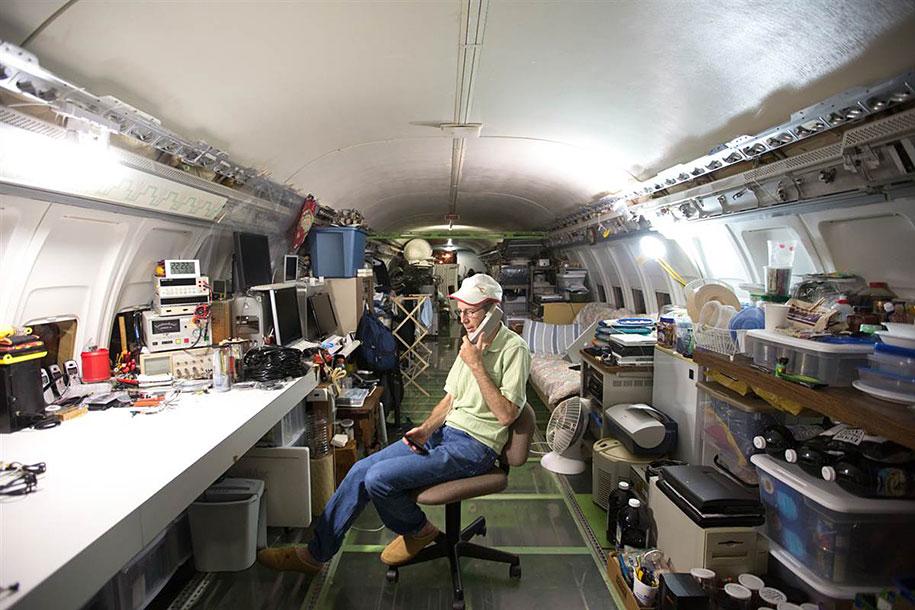 eski boeing-727-geri dönüşümlü-düzlem-ev-bruce-Campbell-9