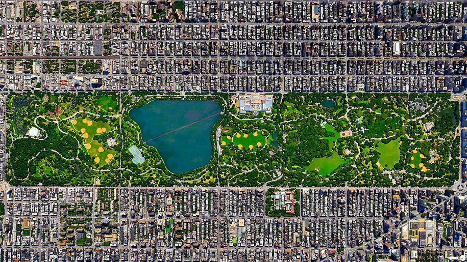 Central Park Google Map on