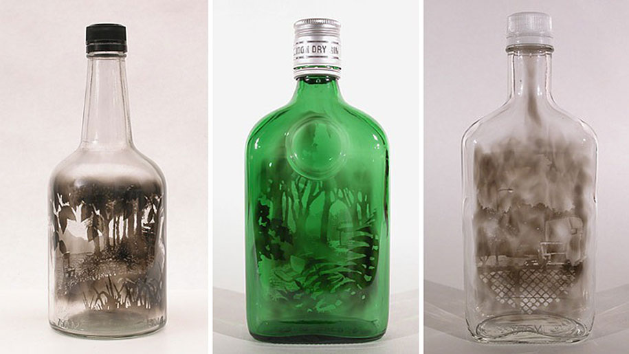 Smoke-Filled Glass Bottles Brushed To Create Beautiful ...