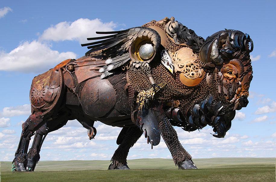 welded-scrap-metal-animal-sculptures-john-lopez-1