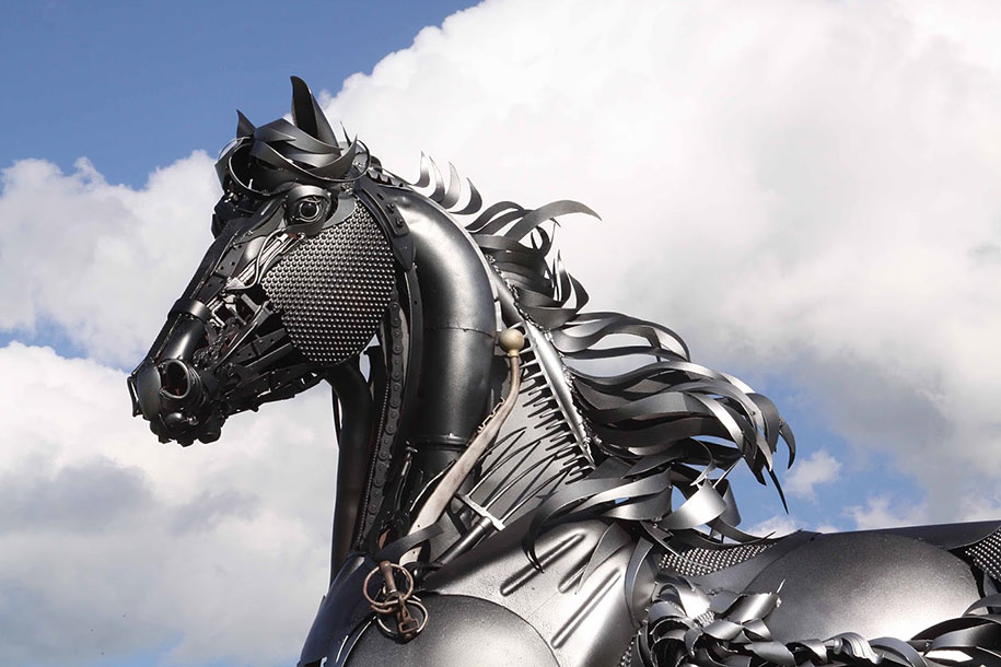 Scrap Metal Sculptures Made Of Old Farm Equipment by John ...