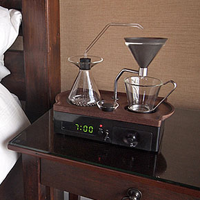 alarm clock that wakes you up with a cup of fresh coffee - Industrial Coffee Maker