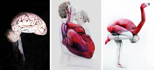 Unbelievable Body Art By Gesine Marwedel Turns People Into Plants - Amazing body art transforms people animals human organs