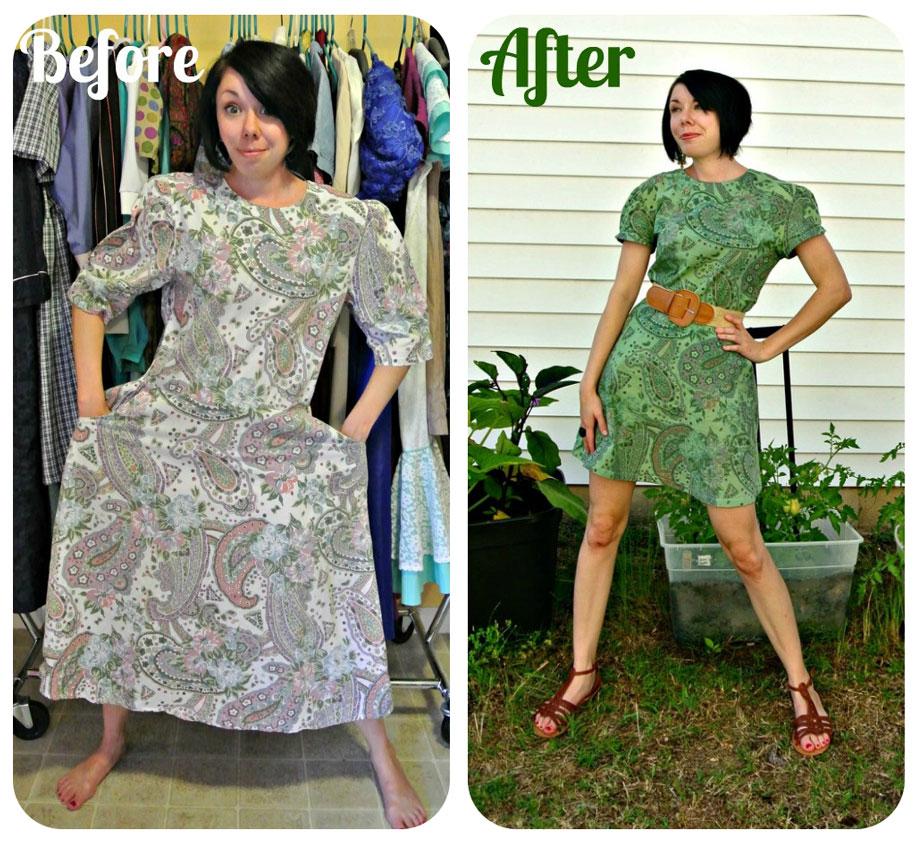 Новое платье из старого своими руками