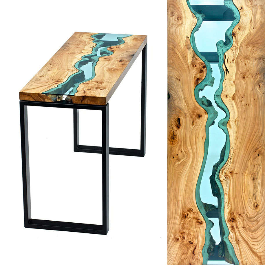 Furniture Design Glass Wood Table Topography Greg Klassen