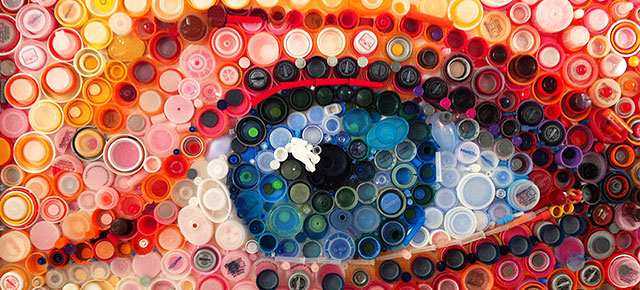 Hundreds Of Plastic Bottle Caps Turned Into Stunning