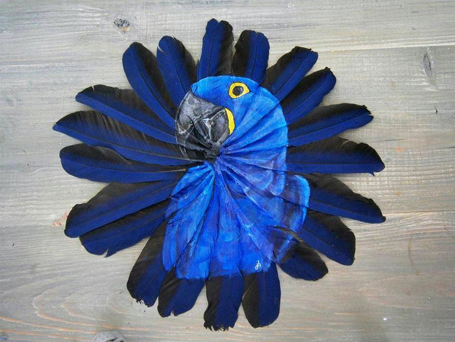 animal-bird-painting-feathers-oil-acrylic-paint-jamie-homeister-1