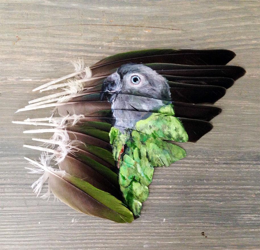 animal-bird-painting-feathers-oil-acrylic-paint-jamie-homeister-13