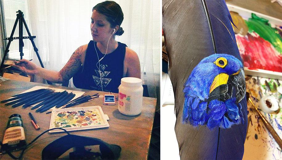 animal-bird-painting-feathers-oil-acrylic-paint-jamie-homeister-22