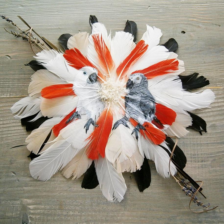 animal-bird-painting-feathers-oil-acrylic-paint-jamie-homeister-5