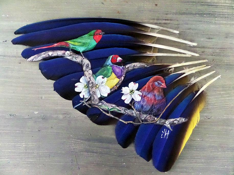 animal-bird-painting-feathers-oil-acrylic-paint-jamie-homeister-9