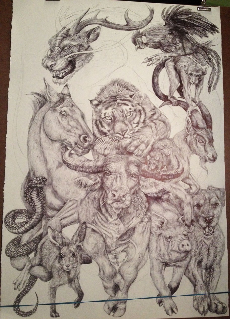 chinese-zodiac-animals-giant-drawing-casterlyrock-savannah-burgess-16