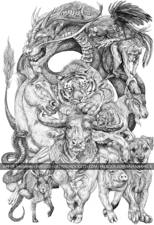 chinese-zodiac-animals-giant-drawing-casterlyrock-savannah-burgess-18