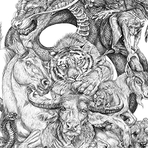 24b2e82f4 19-Year-Old Artist Spent All Summer Creating This Massive Chinese Zodiac  Drawing