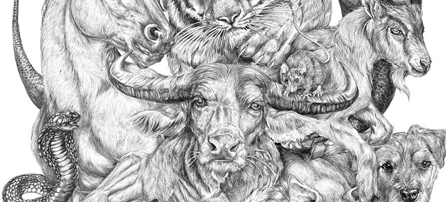 ... Artist Spent All Summer Creating This Massive Chinese Zodiac Drawing