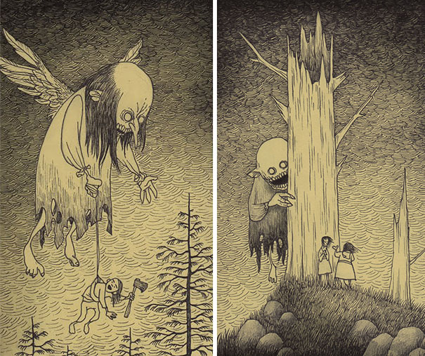 creepy-childhood-monsters-sticky-notes-don-kenn-14