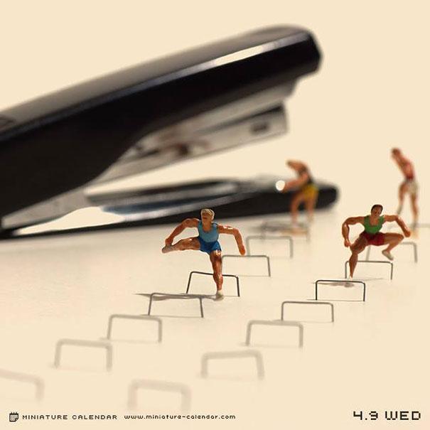 Diorama Miniature Calendar Art Every Day Tatsuya Tanaka : Japanese artist creates one playful diorama each day for