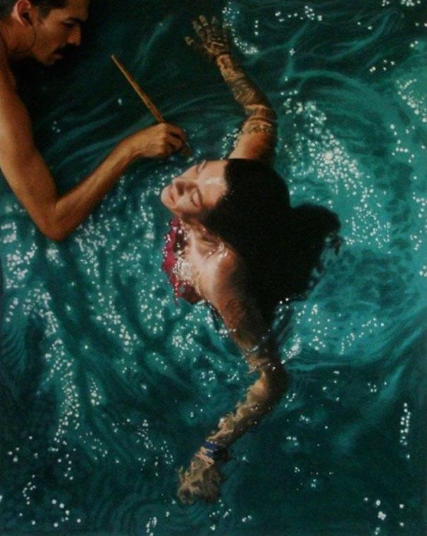 realistic-paintings-water-swimming-people-gustavo-silva-nunez-11