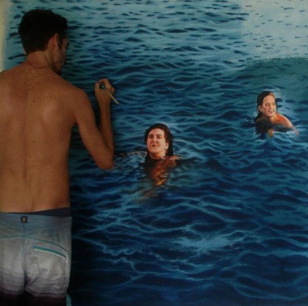 realistic-paintings-water-swimming-people-gustavo-silva-nunez-8