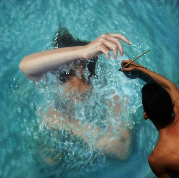 Incredibly Realistic Paintings Of Swimmers By Gustavo ...