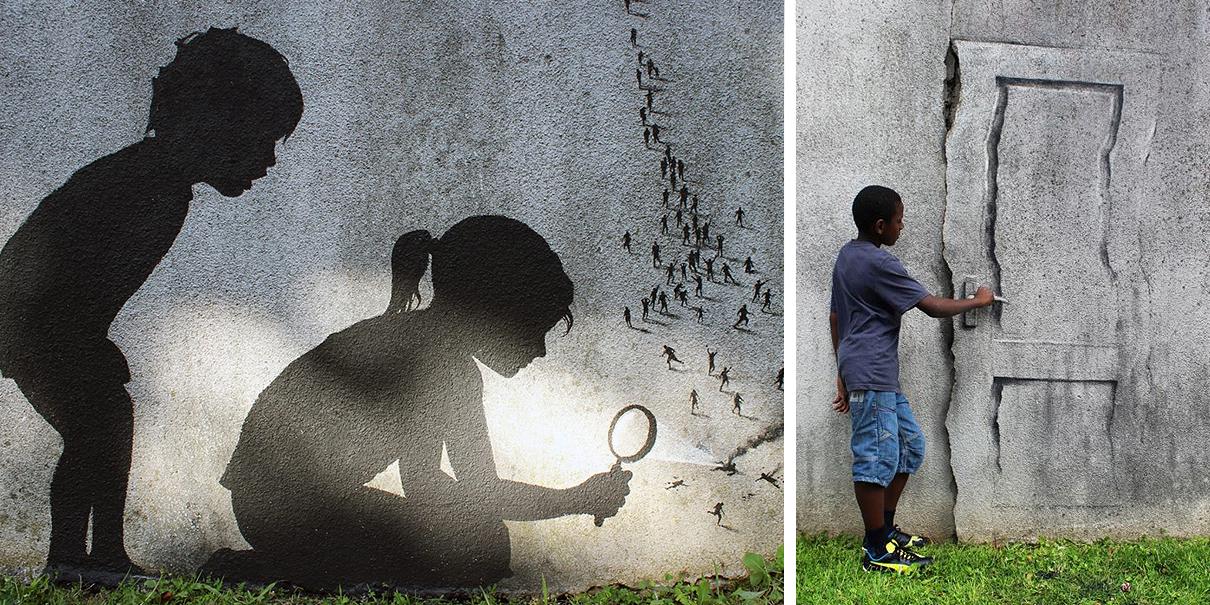 Pejac Left New Street Art Pieces On The Walls Of Paris