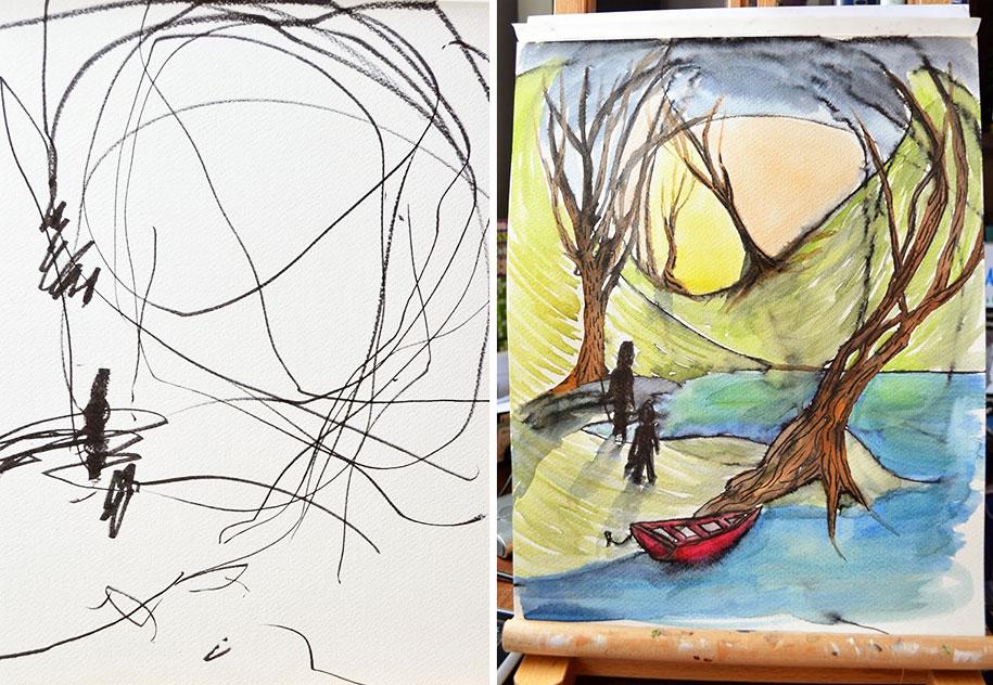 children-drawings-turned-paintings-ruth-oosterman-5