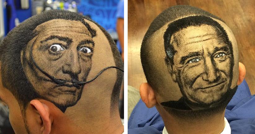 Artist Cuts Hair Into Photo-Realistic Portraits