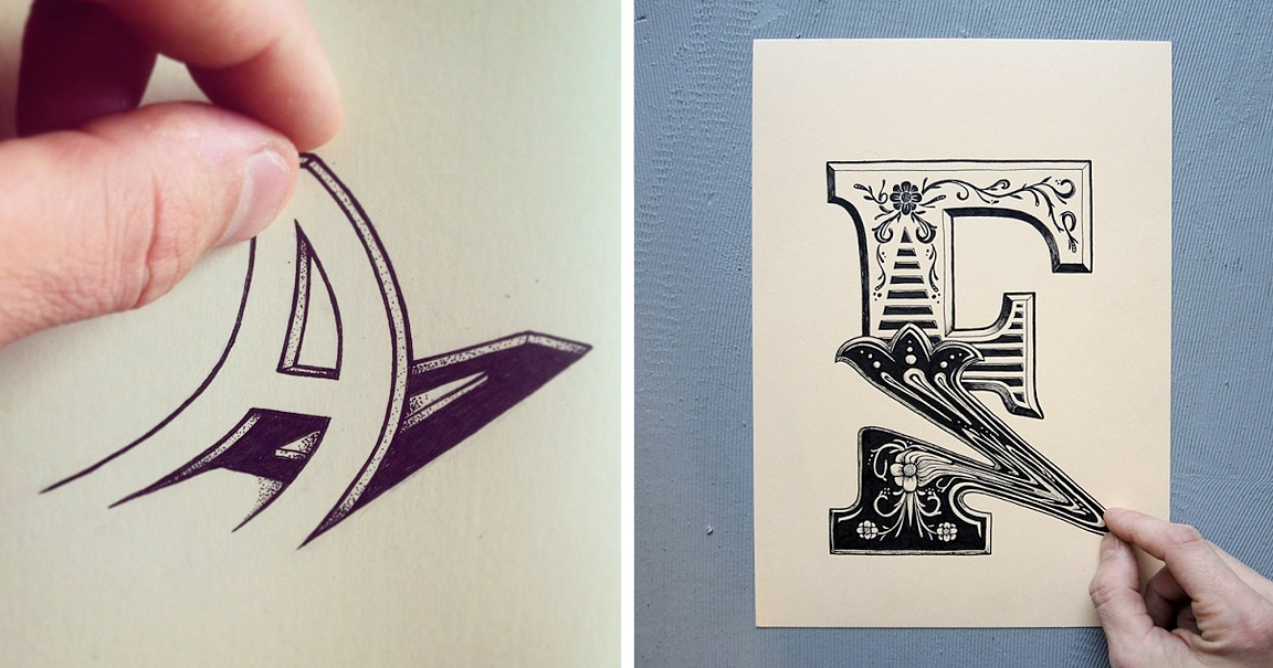 Artist Draws Fun Letters That You Can Squeeze Pull And Bend
