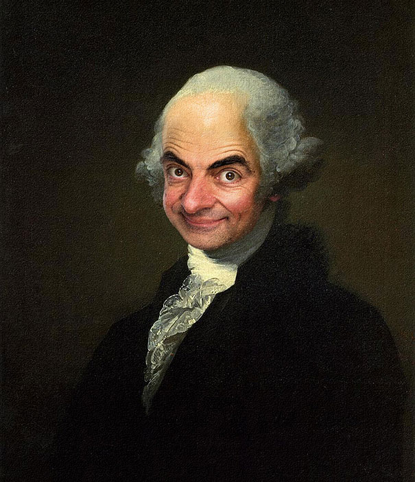 Caricature Artist Inserts Mr. Bean's Face Into Historic