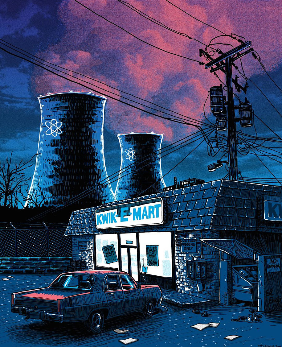 simpsons-springfield-night-illustrations-tim-doyle-2