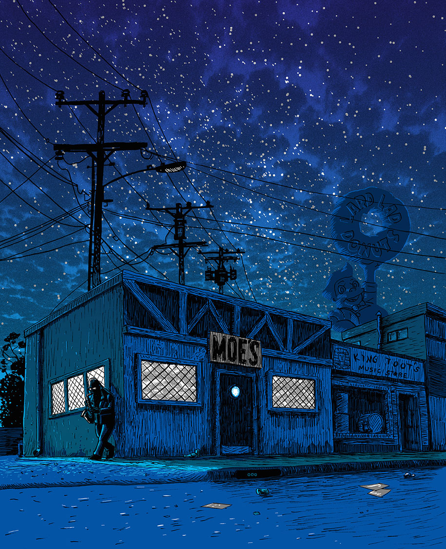 simpsons-springfield-night-illustrations-tim-doyle-6