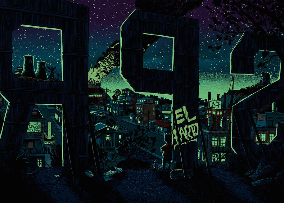 simpsons-springfield-night-illustrations-tim-doyle-7