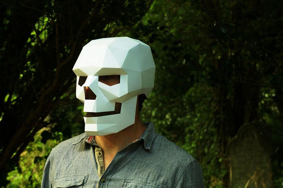 Самодельный маски из бумаги