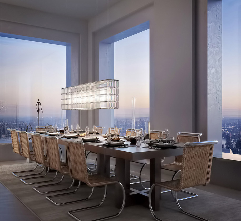 I Like The Concept Of Having The Living Room Dining Room: Breathtaking $95-Million Penthouse Rises 1,369 Ft Above