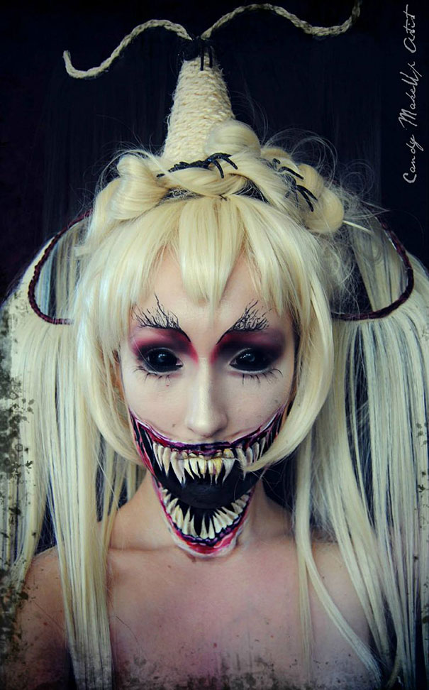 25 Of The Scariest Makeup Ideas For Halloween - Make Up De Halloween