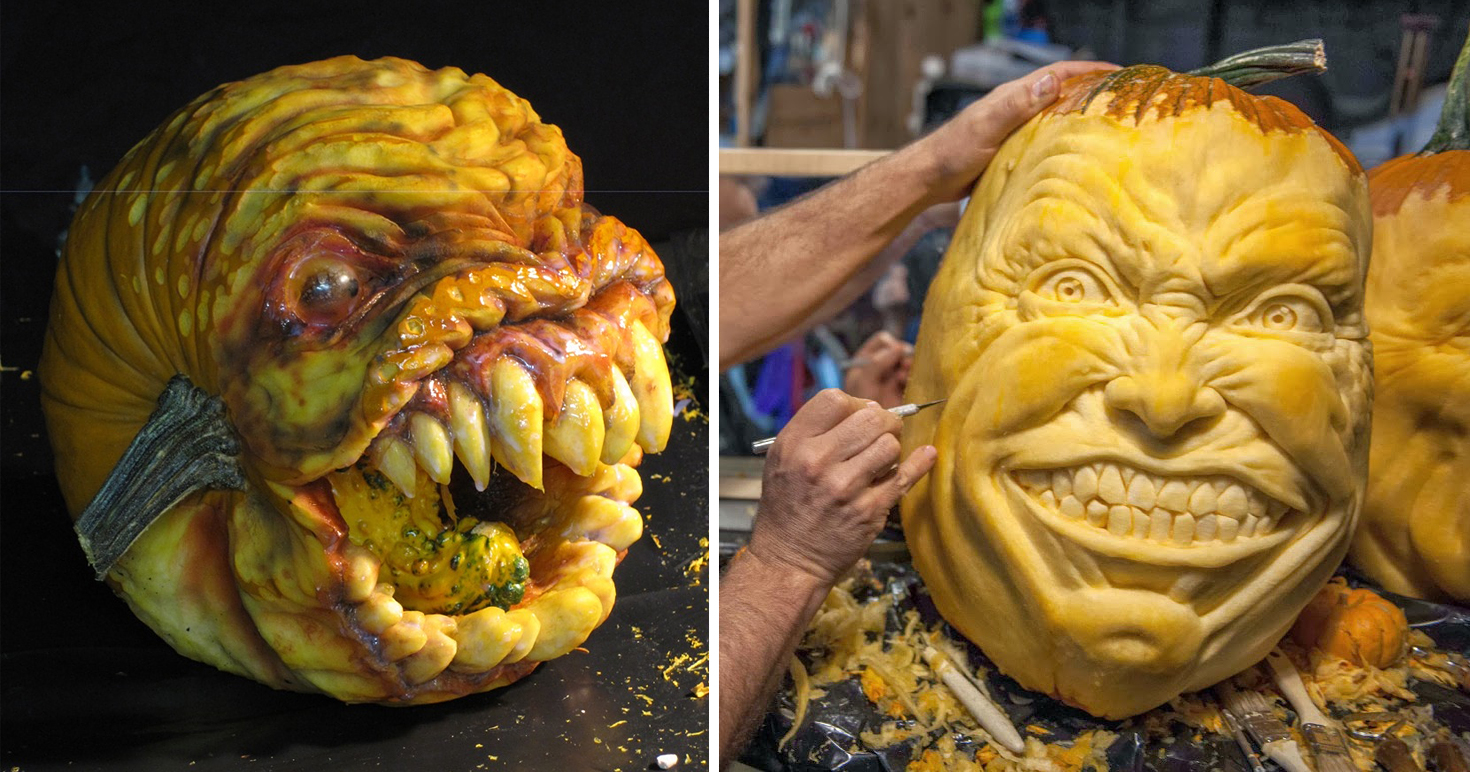 Jaw Dropping Pumpkin Carvings By Jon Neill Demilked